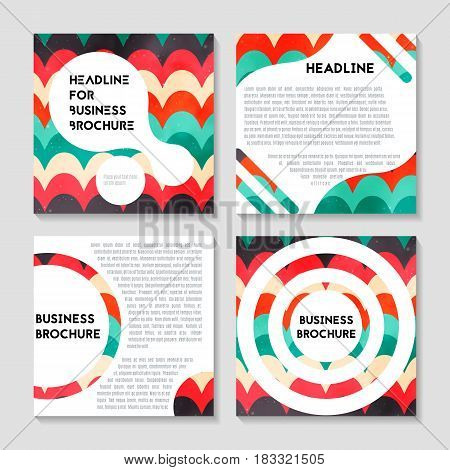 Vector brochure template design with blue and orange elements