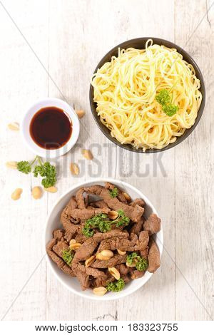 beef and noodle