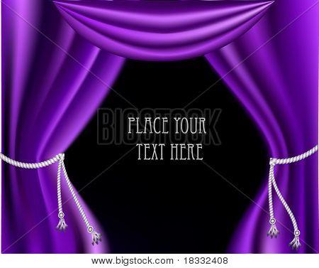 The elegant theater curtain. Vector