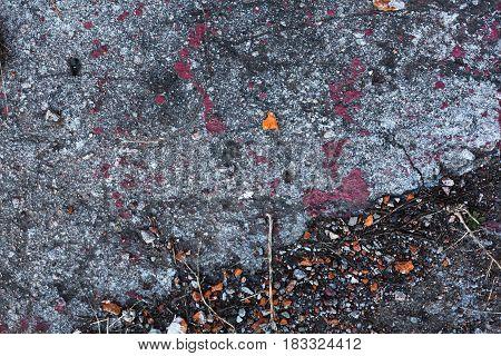 Texture of Cracks on asphalt background Horizontal orientation photo