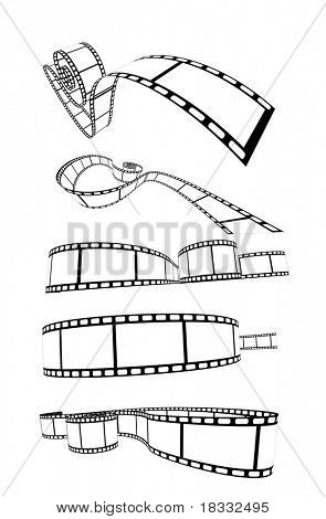 set of curved photographic film poster