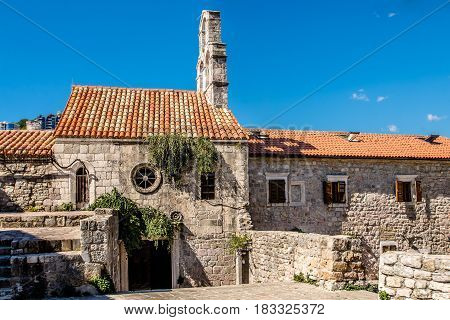 The oldest building in the fortress of Budva,Montenegro