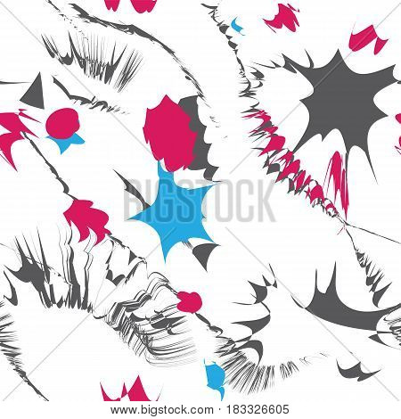 Seamless pattern. abstract geometric backgrounds. Modern stylish textures. Regularly repeating elegant ornaments with different shapes. Vector element of graphical design