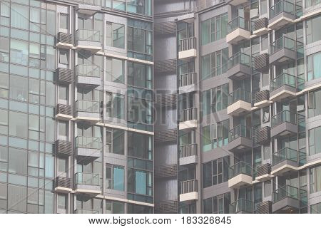 Buildings In Residential Area, Hong Kong.