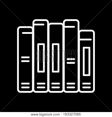 book spine vector icon. Outline design. Eps 10