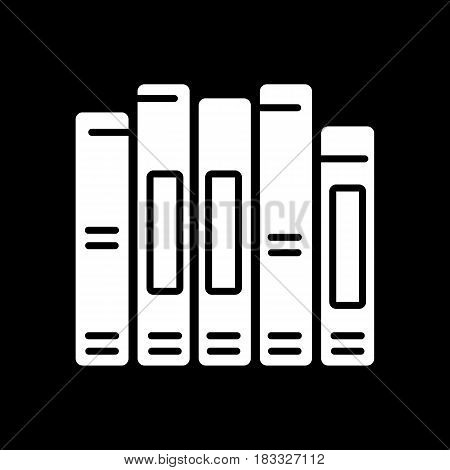 book spine vector icon. Solid design. Eps 10