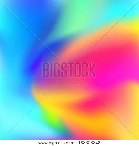 Bright abstract colorful zen harmony background festive vivid colors blend poster layout. Vector illustration