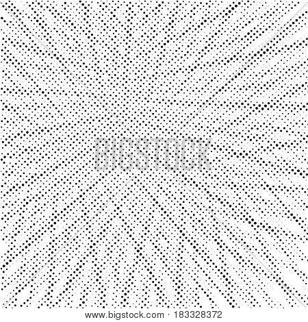 Black and white dotted distressed modern background template. Vector illustration