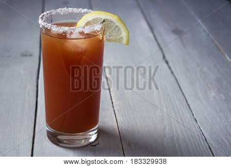 Tomato Juice With Salt And Lemon