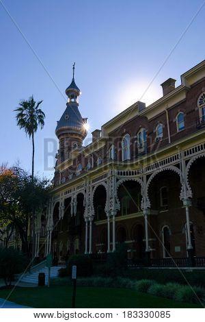 TAMPA, FLORIDA, USA - DECEMBER 06, 2003: Moorish architecture of the University of Tampa Florida