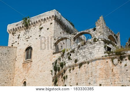 Detail of the Castle of Conversano. Puglia. Italy.
