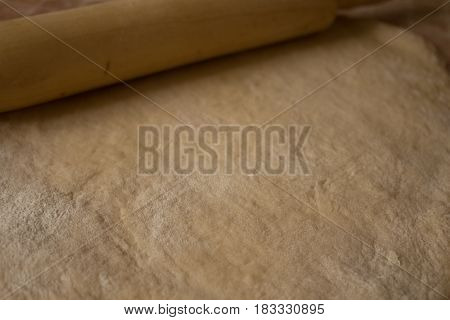 Raw Dough Flour Rolling Pin