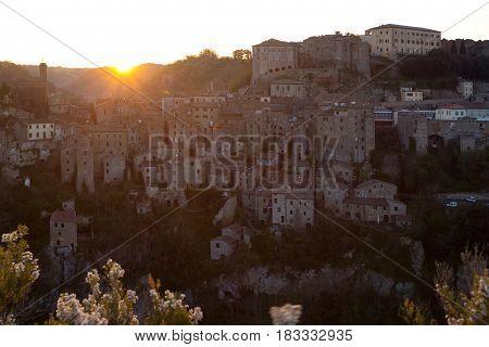 Dawn Over The City Of Sorano