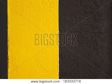 Banner, Background Of Yellow Black Stripes.