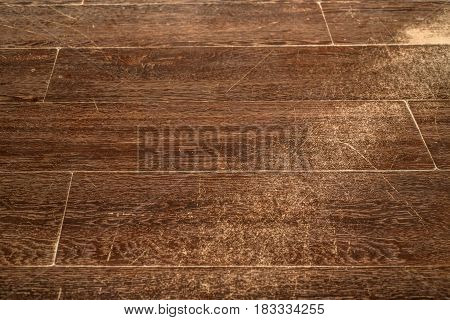 Brown wooden texture of old vintage laminate