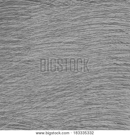 Grey Strokes Drawn Background. Abstract Careless Pattern