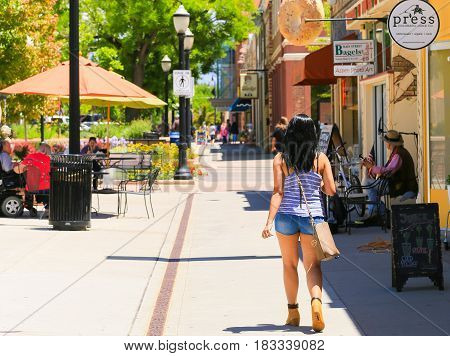 Strolling Around The Main Street