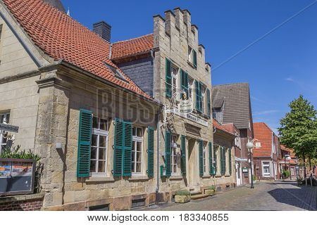 BILLERBECK, GERMANY - AUGUST 17, 2016: Old hotel in the center of Billerbeck, Germany