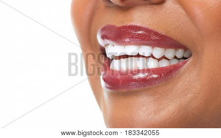 African-American woman smile.