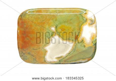 green and red jasper geological mineral isolated