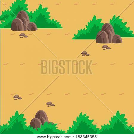 wasteland illustration. Nice for infographic background. Vector Illustration.