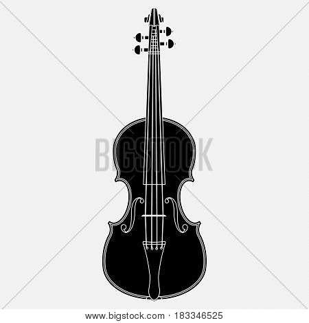 Violin Icon isolated on white background. Vector illustration. Eps 10.
