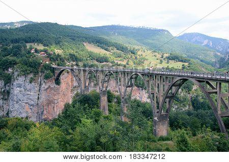 Djurdjevic bridge, Montenegro. Canyon. Tara bridge ,