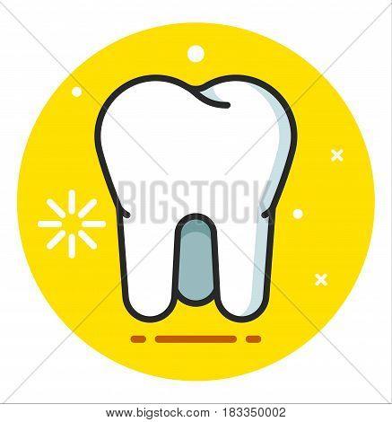 Tooth Icon vector illustration flat design art
