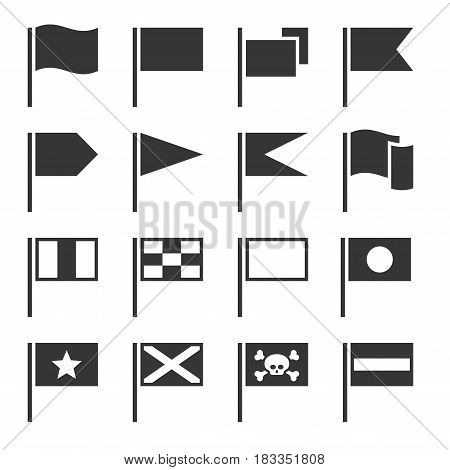 Flag Icons Set on White Background. Vector