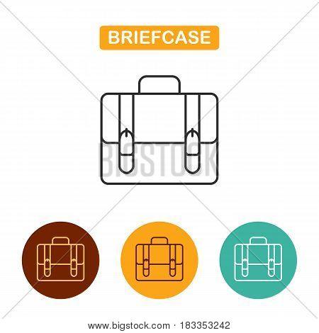 Briefcase icon vector illustration. Portfolio image. Travel icon for web and graphic design. Line style logo.