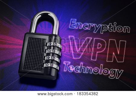 Connection To Internet Security, Electronic Security, Internet Traffic Encryption. Vpn Technology