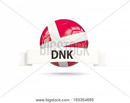 Football With Flag Of Denmark