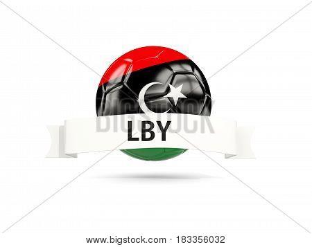 Football With Flag Of Libya