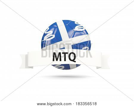 Football With Flag Of Martinique
