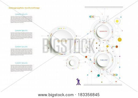 Infographic template timeline technology hi-tech digital and engineering telecoms can be used for your businessbook cover template bannerdiagram Infographics presentation Vector illustration