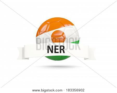 Football With Flag Of Niger