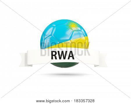 Football With Flag Of Rwanda