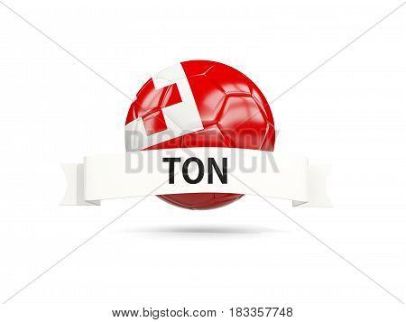 Football With Flag Of Tonga