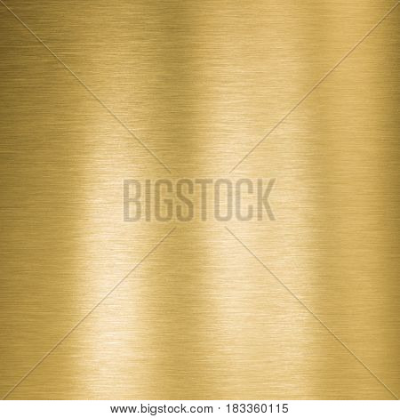 Golden brushed square metal texture or background