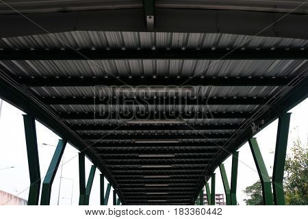 Overpass Roof Texture Background in The City.