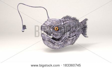 3D Computer rendering illustration of ancient angler fish