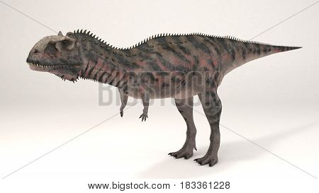 3D Computer rendering illustration of Majungasaurus dinosaur