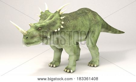 3D Computer rendering illustration of Styracosaurus dinosaur