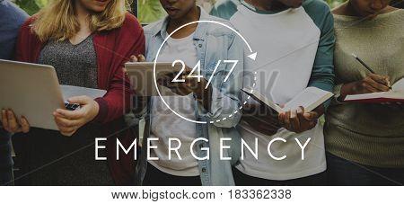 24/7 Emergency Hotline Access Overlay