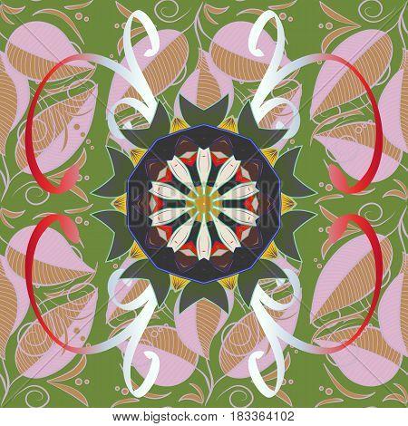Design for fashion banner label bridal shower or wedding invitation. Back. Vector oriental ornament frame with decorative colored foil.