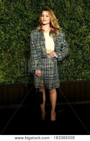 NEW YORK-APR 24: Dianna Agron attends the 12th Annual Tribeca Film Festival Artists Dinner hosted by Chanel at Balthazar Restaurant on April 24, 2017 in New York City.
