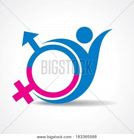 Male and Female icon stock vector illustration