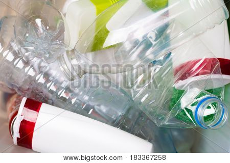 Picture of utilized PET bottles
