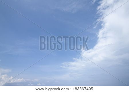 White cloud on blue sky for use in background.
