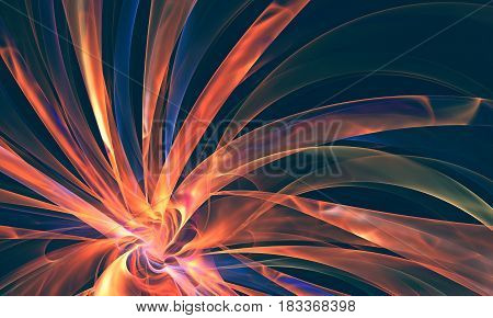 Solar explosion, fire rays, abstract sun for art projects